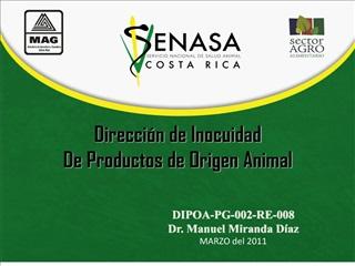 Direcci n de Inocuidad De Productos de Origen Animal