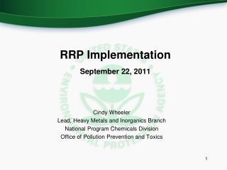 RRP Implementation September 22, 2011