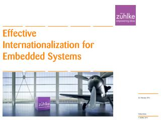 Effective  Internationalization for Embedded Systems
