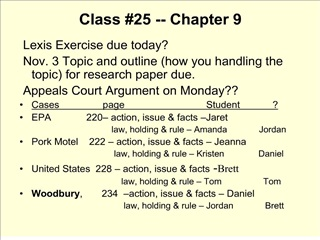 Class 25 -- Chapter 9