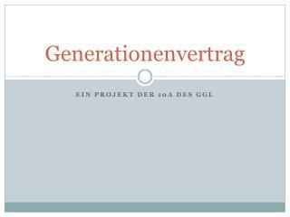 Generationenvertrag
