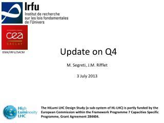 Update on Q4