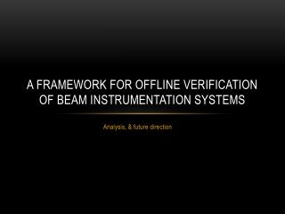 A framework for offline verification of Beam instrumentation systems