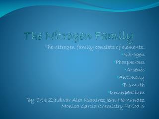 The Nitrogen Family