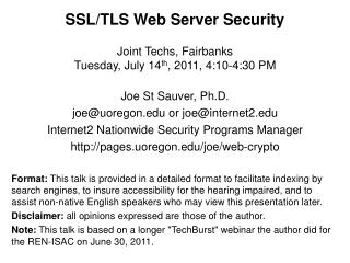 SSL/TLS Web Server Security