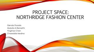 Project space:  Northridge fashion center