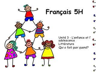 Français 5H