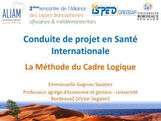 Conduite de projet en Santé Internationale