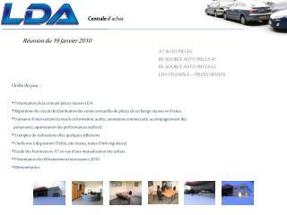 Réunion du 19 Janvier 2010
