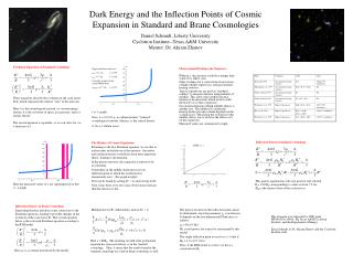 Dark Energy and the Inflection Points of Cosmic Expansion in Standard and Brane Cosmologies Daniel Schmidt, Liberty Univ