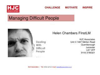 HJC Associates  |   Tel: 07402 667123   Email :  helen@hjcassociates.co.uk
