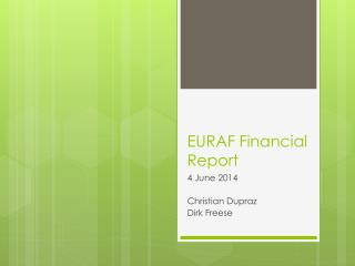 EURAF Financial Report