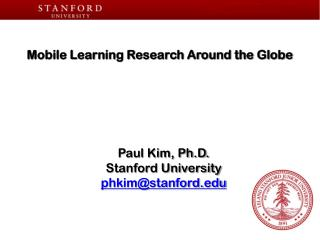 Mobile Learning Research Around the Globe