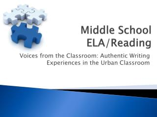 Middle School ELA/Reading