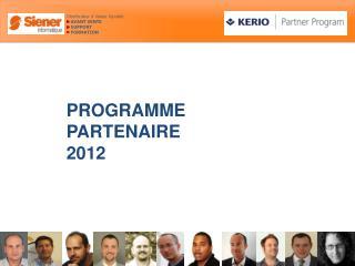 PROGRAMME  PARTENAIRE 2012