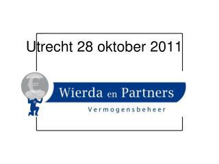 Utrecht 28 oktober 2011