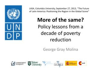 More of the same?  Policy lessons from a decade of poverty reduction