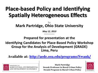 Place-based Policy and Identifying Spatially Heterogeneous Effects