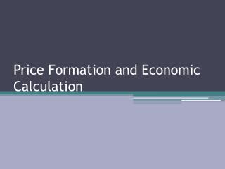 Price Formation and Economic Calculation
