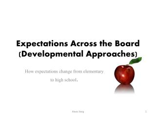 Expectations Across the Board (Developmental Approaches)