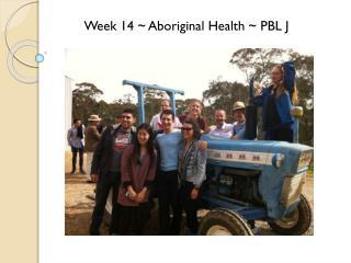 Week 14 ~ Aboriginal Health ~ PBL J