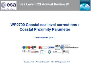 Sea Level CCI Annual Review #1
