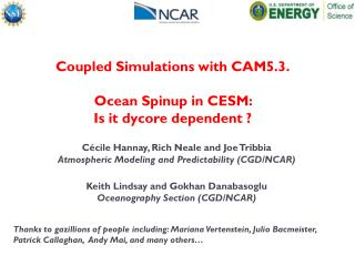 Coupled Simulations with CAM5.3. Ocean  Spinup  in CESM:  Is it  dycore  dependent  ?
