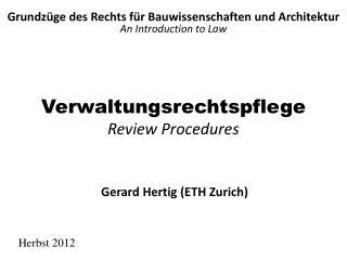 Verwaltungsrechtspflege Review Procedures