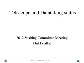 Telescope and  Datataking  status