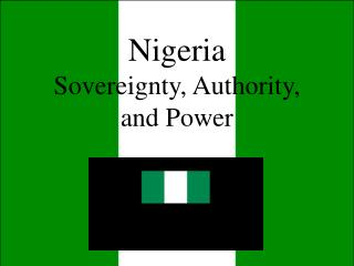 Nigeria Sovereignty, Authority, and Power