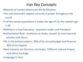 Iran Key Concepts