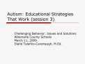 Autism: Educational Strategies That Work session 3