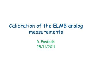 Calibration of the ELMB analog measurements