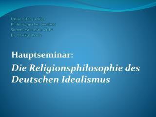 Universität zu Köln Philosophisches Seminar Sommersemester 2014 Dr. Markus Wirtz