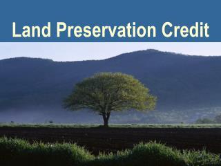 Land Preservation Credit