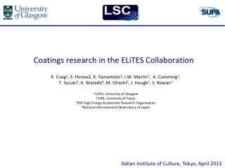 Coatings research in the  ELiTES  Collaboration