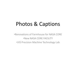 Photos & Captions