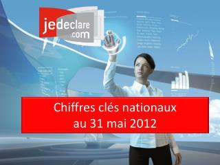 Chiffres clés nationaux  au 31 mai 2012
