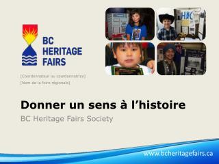 Donner un sens à l'histoire