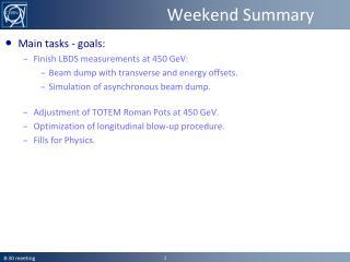 Weekend Summary