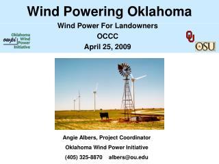 Wind Powering Oklahoma