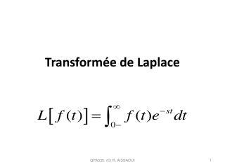 Transformée de Laplace