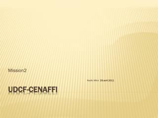 UDCF-CENAFFI