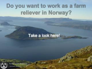 Norske  Landbrukstenester - ditt lokale vikarbyr�