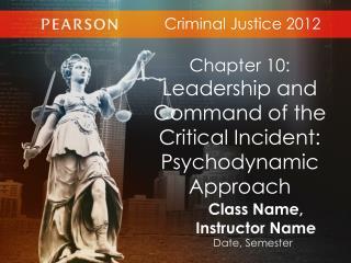 Criminal Justice 2012