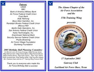 17 September 2005 Gateway Club Lackland Air Force Base, Texas