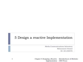 5 Design a reactive Implementation