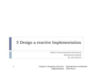 5 Design a reactive Implementation