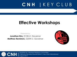 Effective Workshops