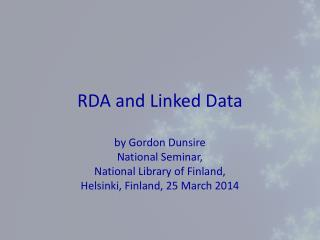 RDA and  Linked Data